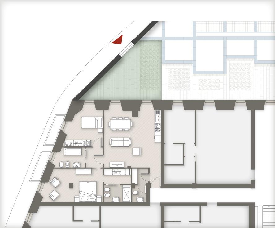 planimetria appartamenti Masone15 Bergamo_con giardino A