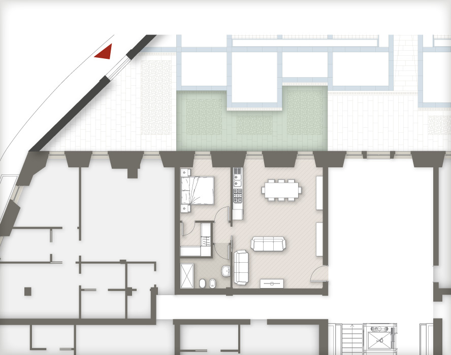 planimetria appartamenti Masone15 Bergamo_con giardino B