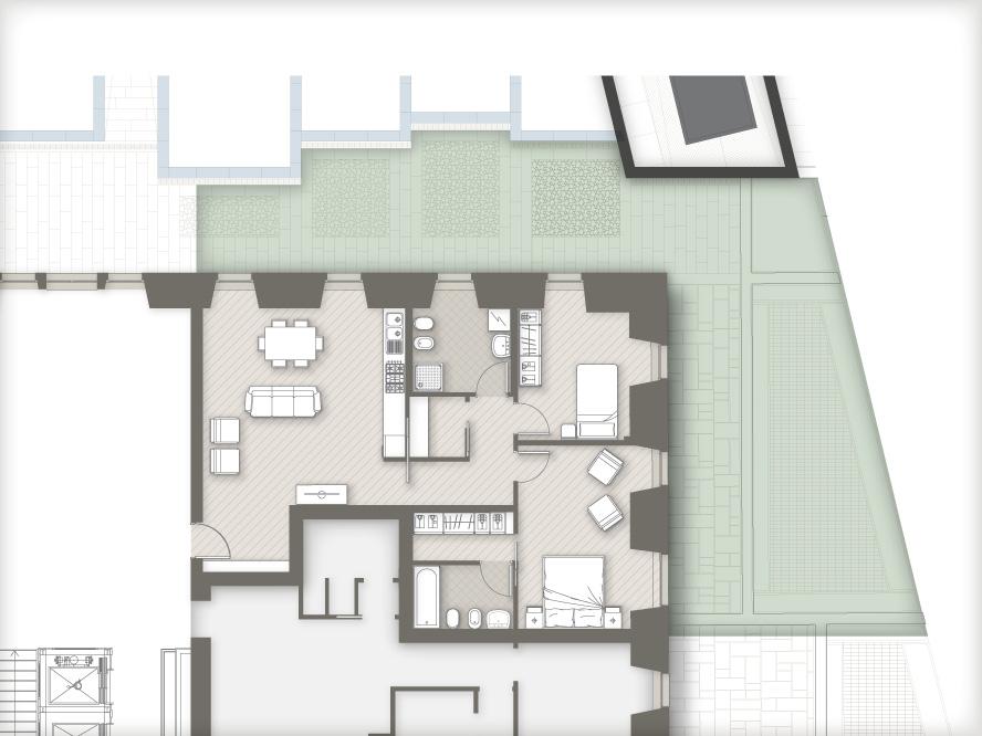 planimetria appartamenti Masone15 Bergamo_con giardino C