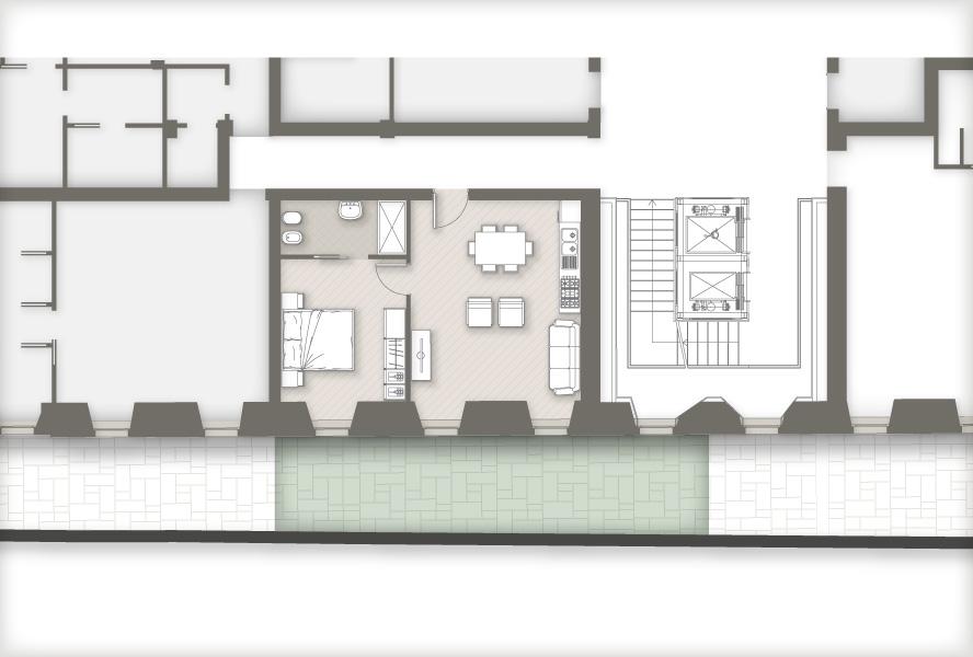 planimetria appartamenti Masone15 Bergamo_con giardino E