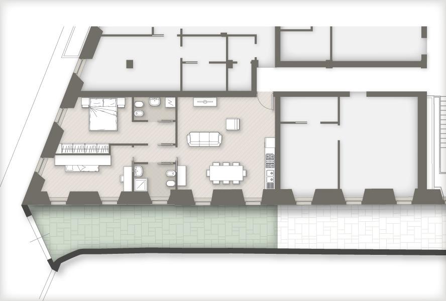 planimetria appartamenti Masone15 Bergamo_con giardino F